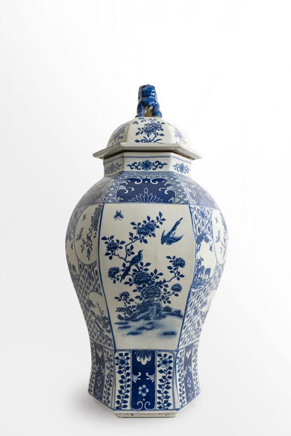 藍色花鳥小鹿瓷器 C202000003