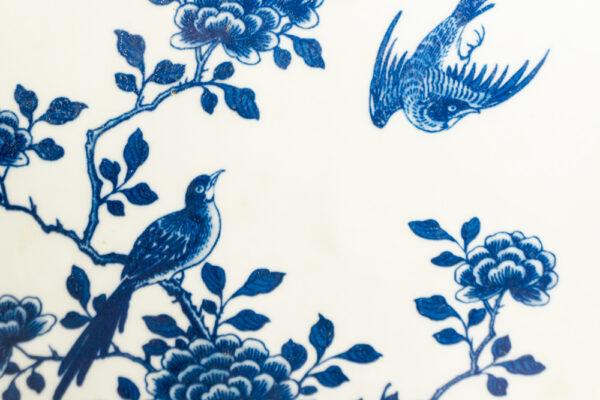 藍色花鳥小鹿瓷器 C202000003 下