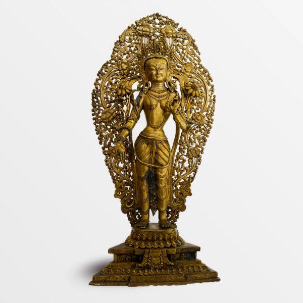 鎏金銅彌勒菩薩 S202000013