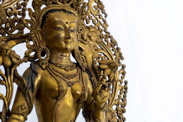 鎏金銅彌勒菩薩 S202000013 上