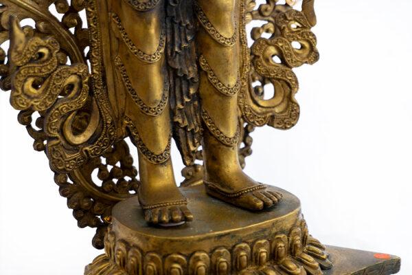 鎏金銅彌勒菩薩 S202000013 下