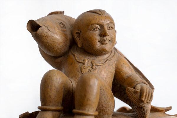 木雕鯉魚與孩童 S202000016 正
