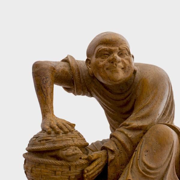 木雕竹籃人物 S202000019 上
