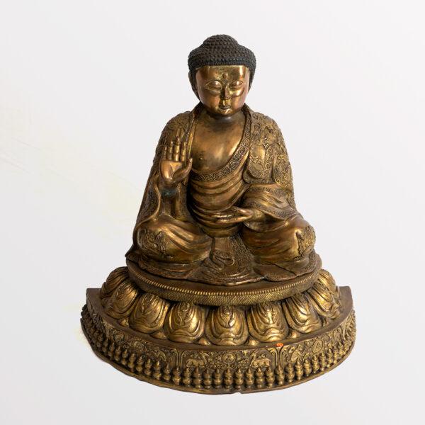 鎏金銅釋迦牟尼佛坐像 S202000020