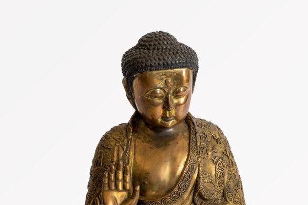 鎏金銅釋迦牟尼佛坐像 S202000020 上