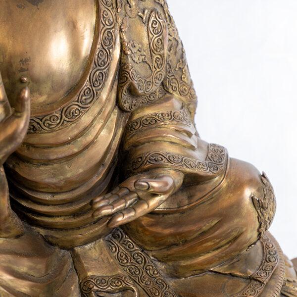 鎏金銅釋迦牟尼佛坐像 S202000020 中