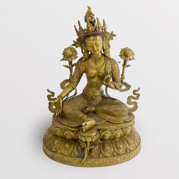 鎏金銅菩薩坐像 S202000021