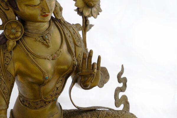 鎏金銅菩薩坐像 S202000021 中