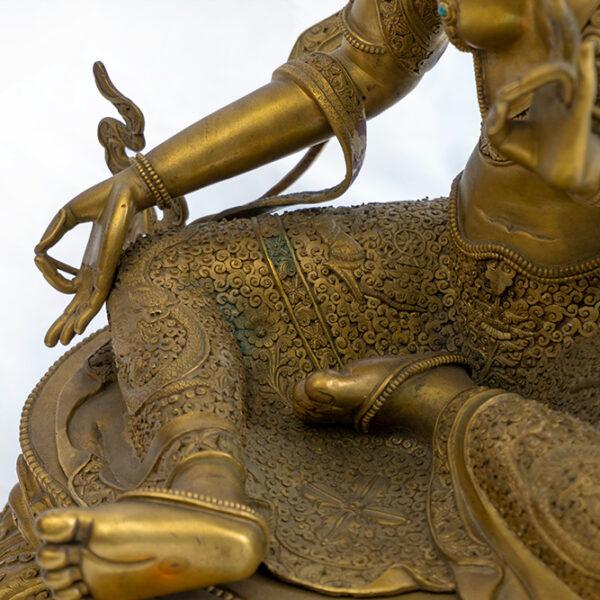 鎏金銅菩薩坐像 S202000021 下