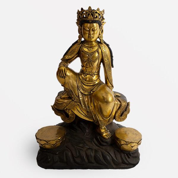 鎏金銅菩薩坐像 S202000022