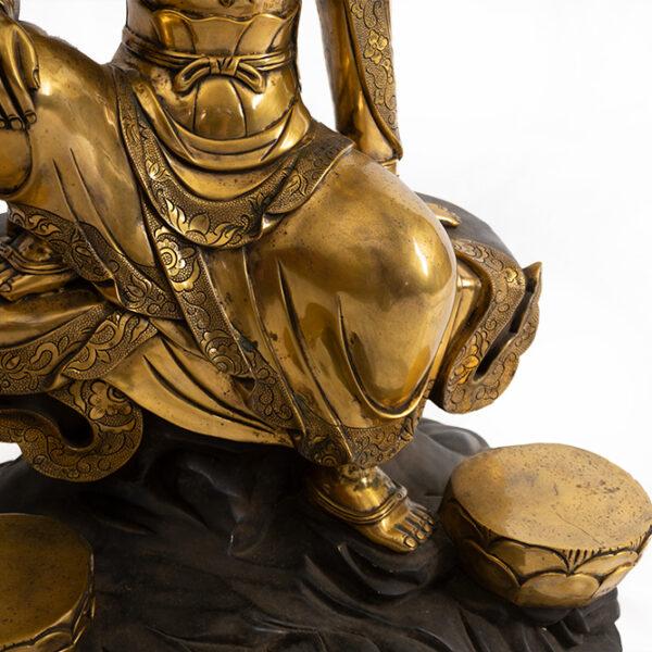 鎏金銅菩薩坐像 S202000022 下