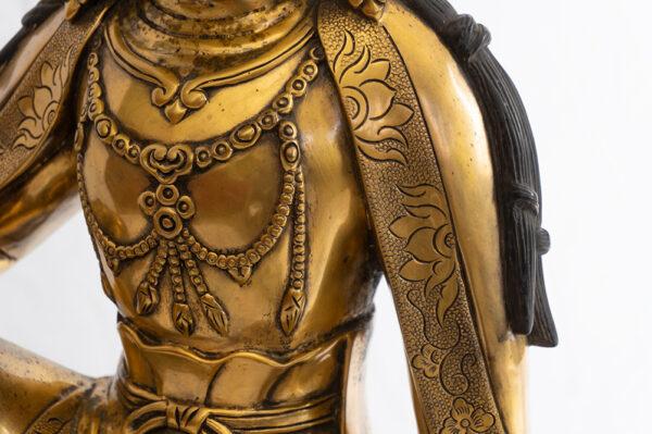 鎏金銅菩薩坐像 S202000022 中