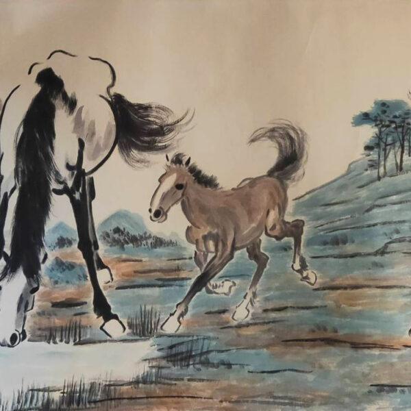 P202000020徐悲鴻 六匹馬